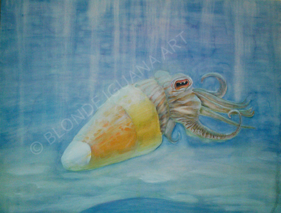 cuttlefish, tentacles, seascape