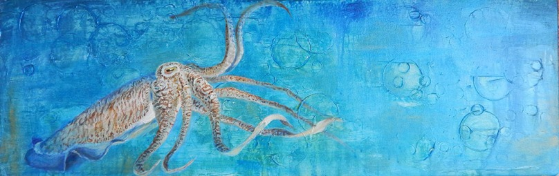 SOLD - Cuttlefish Bleu