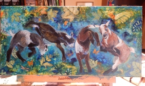 "SOLD - ""Shiva, Dyson, Aurora and Chloe"""