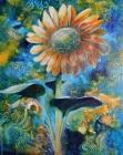 floral art, sunflower. botanical