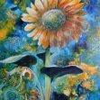 floral art, sunflower. botanical