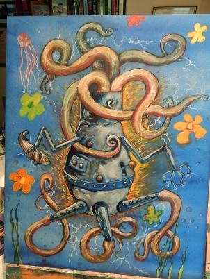 robot, tentacles