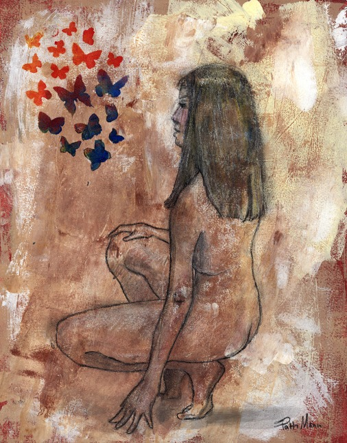 nude, female, figure, figurative
