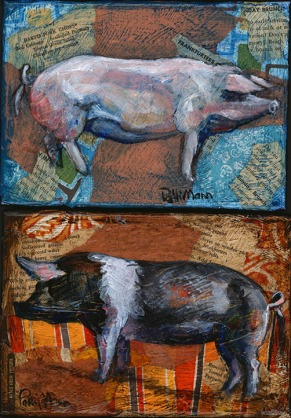 pig art, pork. farm