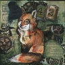 fox, mixed media, tennessee art, animal art