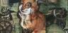 fox, mixed media, tennessee art, animal art