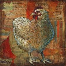 chicken art patti mann mixed media collage country farm