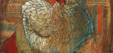 chicken art patti mann mixed media collage country farm