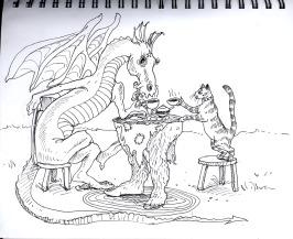 dragondrinkingtea