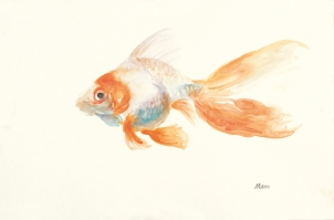 """""""Orange Creamsicle"""", an 18x12"""" watercolor on paper. $55 each. Free non-expedited shipping!"""