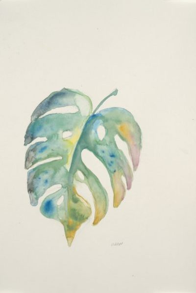 """""""Soft Palm"""", 12x18"""" watercolor on paper, $40, non-expedited domestic shipping included"""