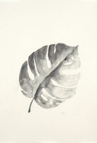 """""""B&W Palm II"""", 12x18"""" watercolor on paper, $30, non-expedited domestic shipping included"""