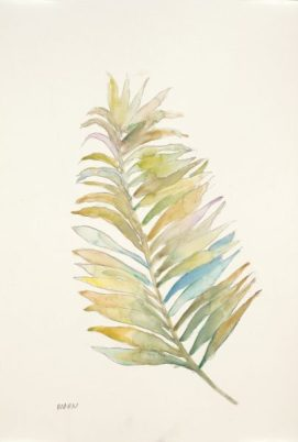 """Frond I"", 12x18"" watercolor on paper, $45, non-expedited domestic shipping included"