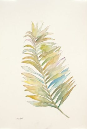 """""""Frond I"""", 12x18"""" watercolor on paper, $45, non-expedited domestic shipping included"""