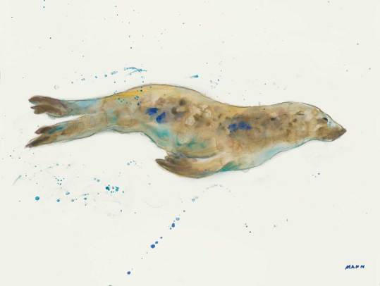 """Ocean Freedom"", 24x18"" watercolor on paper, $65, non-expedited domestic shipping included"